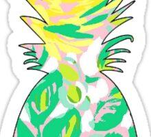 Lilly Pulitzer Inspired Print Pineapple Vinyl Sticker Sticker
