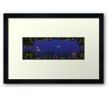 Donkey Kong Country - Underwater Level Framed Print