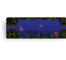 Donkey Kong Country - Underwater Level Canvas Print