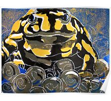 Precious - A Corroboree Frog Guarding Eggs by Heather Holland Poster