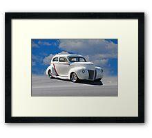 1940  Ford 'Custom' Sedan Framed Print