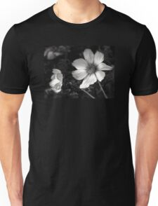 black and white flowers Unisex T-Shirt