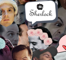 Moriarty (Collage) Sticker
