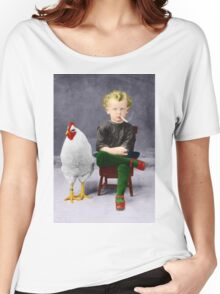 Smoking Child - Recolored Version Women's Relaxed Fit T-Shirt
