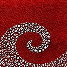 Red Leather with Studded Swirl by adamcampen