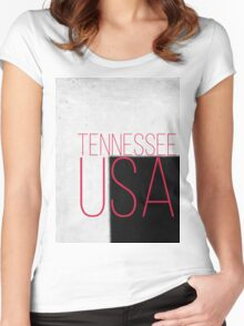 TENNESSEE USA Women's Fitted Scoop T-Shirt