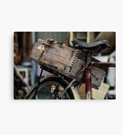 Bicycle basket Canvas Print