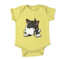 Let's Play English Bull Terrier Black  One Piece - Short Sleeve