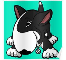 Let's Play English Bull Terrier Black  Poster
