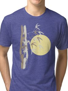 Oriental Yellow Sunrise Bamboo Zen Tri-blend T-Shirt
