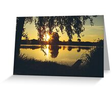 Morning at the pond Greeting Card