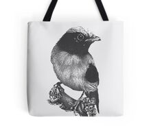 Bird on a tree branch Tote Bag