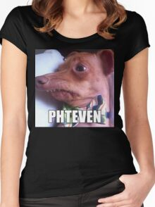 Phteven Women's Fitted Scoop T-Shirt