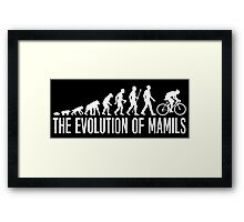 Cycling MAMIL Evolution Framed Print