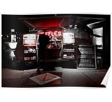 Red Neon JAFFLES Poster