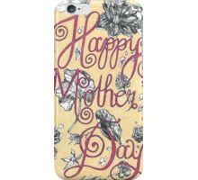 Happy Mother's Day Illustration iPhone Case/Skin