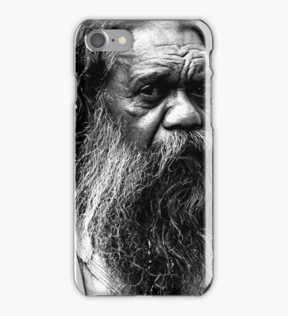 Portrait of an aborigine iPhone Case/Skin