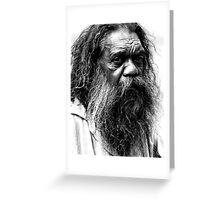 Portrait of an aborigine Greeting Card