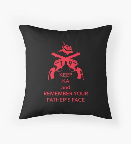 Keep KA - red edition Throw Pillow