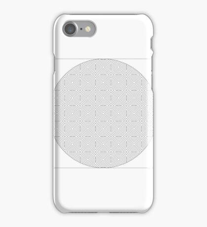 Simplistic Black & White Circle Design iPhone Case/Skin
