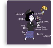 Beetlejuice and Lydia Meeting Canvas Print