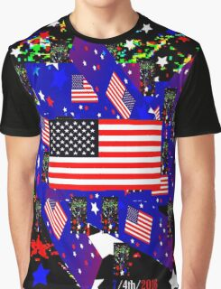 4th Rockets/Stars/Flag Abstract or Greatness! Graphic T-Shirt