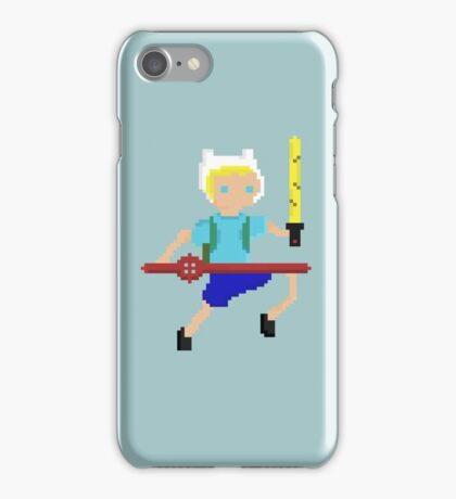 Adventure Time Fin Pixel  iPhone Case/Skin