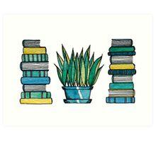Greenish Books Art Print