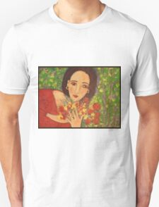 """Red sandals and Pomegranates"" Unisex T-Shirt"