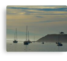 Resting Sailboats in Still Waters Canvas Print