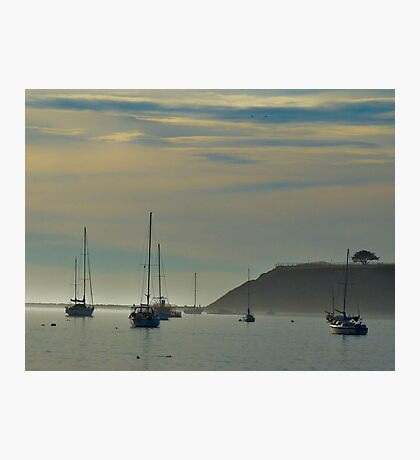 Resting Sailboats in Still Waters Photographic Print
