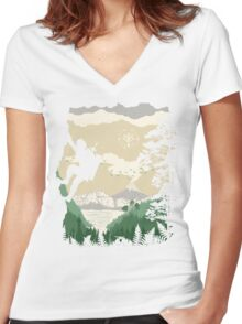 Breath of Adventure Women's Fitted V-Neck T-Shirt