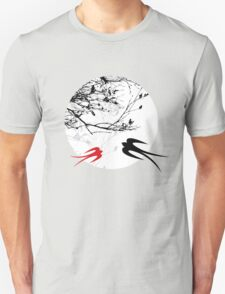 Oriental Swallows In Moonlight  Unisex T-Shirt