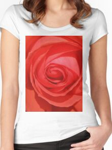 Orange Rose Women's Fitted Scoop T-Shirt