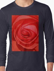 Orange Rose Long Sleeve T-Shirt