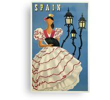 Spain Spanish Dancer Vintage Travel Poster Canvas Print
