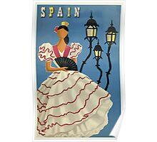 Spain Spanish Dancer Vintage Travel Poster Poster