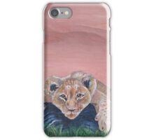 Lazy Lion Cub iPhone Case/Skin