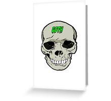 Goth skull design Greeting Card