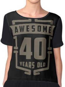 Awesome 40 Years Old Chiffon Top