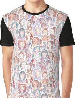 Colorful Crowd Graphic T-Shirt