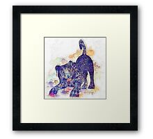 Panther Splash Framed Print