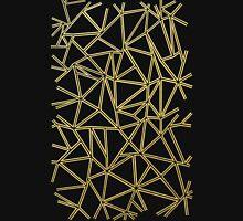 Abstract Blocks Gold Unisex T-Shirt