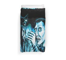 The Black cat reveals the gallows Duvet Cover