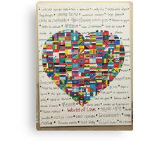 World of Love Canvas Print