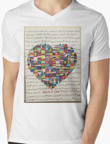 World of Love Mens V-Neck T-Shirt