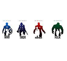 Captain America - Thor - Ironman - Hulk Photographic Print
