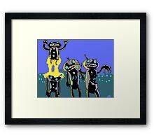 zombie robots Framed Print
