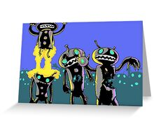 zombie robots Greeting Card