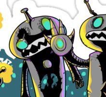 zombie robots Sticker